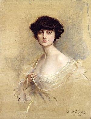 Anna de Noailles - Anna, Comtesse de Noailles,1913 by Philip de László