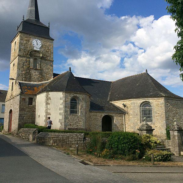 Photographie du village de Lauzach, église