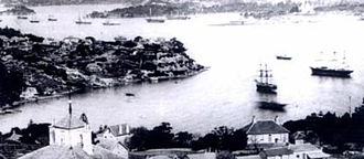 James Milson - Lavender Bay in the 1880s as photographed by Bernard Otto Hotermann from the western side of the bay towards Milsons Point. (Mitchell Library SLNSW)