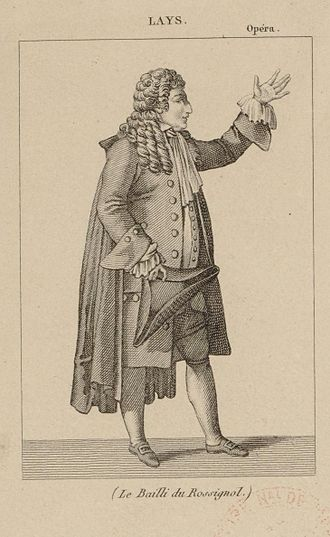 François Lays - Lays in the role of the bailiff in Le rossignol by Louis-Sébastien Lebrun