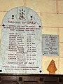 Le Grez (Sarthe) église, plaque monument aux morts.jpg