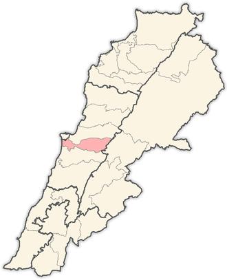 Baabda District - Image: Lebanon districts Baabda