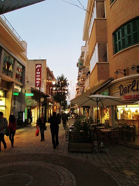 File:Ledra street Nicosia Republic of Cyprus in Christmas.jpg