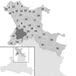 Location of the municipality of the district of Salzburg-Umgebung in the district of St. Johann im Pongau (clickable map)