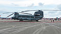 Left View of ROCA CH-47 7302 in Ching Chuang Kang AFB Apron 20140719.jpg
