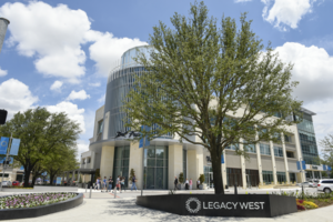 Legacy West - Legacy West at the entry to Windrose Avenue, June 2017.