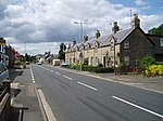 Leitholm. View west through this picturesque Borders village.