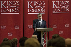 Department of International Development (King's College London) - Leon Panetta speaks at King's College London.