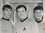 Leonard Nimoy William Shatner De Forest Kelley Star Trek 1969 cropped.JPG