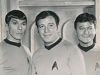 Space Seed - Michelle Erica Green called Khan a perfect foil for Spock, Kirk, and McCoy (pictured left to right).