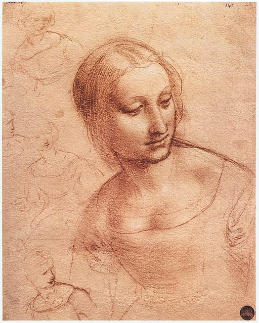 Leonardo da vinci, Study for Madonna with the Yarnwinder