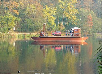Adda (river) - Ferry designed by Leonardo da Vinci.
