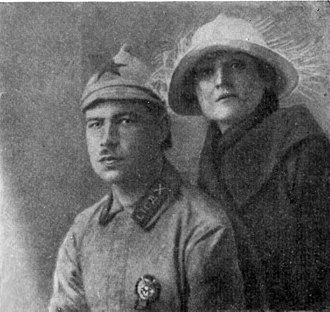 Leonid Govorov -  Govorov with his wife, 1923