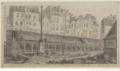 Les charniers en 1786 avant démolition Bernier, Claude-Louis (1755-1830).png