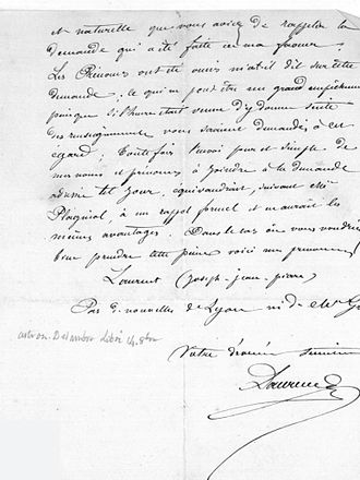Joseph Jean Pierre Laurent - Image: Letter from Joseph Jean Pierre Laurent to Benjamin Valz, 5 September 1858
