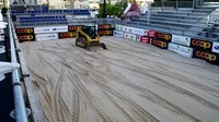 File:Leveling sand on beach volleyball court.webm