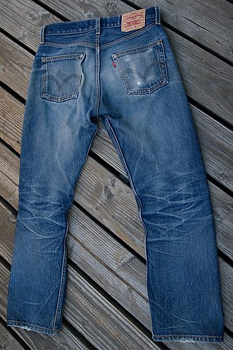 Levi Strauss & Co. - A pair of Levi's 501 raw jeans