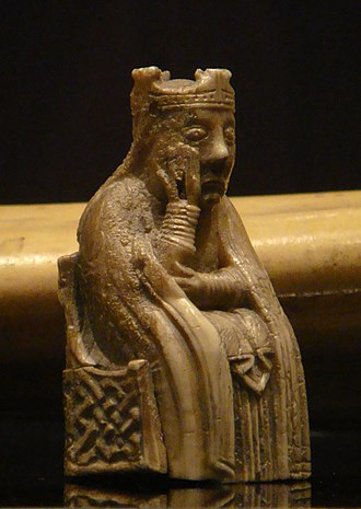 Óláfr Guðrøðarson (died 1153) - A queen gaming piece of the so-called Lewis chessmen. Almost nothing is known of queenship in the Isles.
