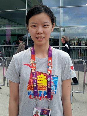 Li Xuerui - Li Xuerui at the 2012 London Olympics