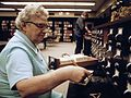 Librarian at the card files at a senior high school in New Ulm, Minnesota (1).jpg