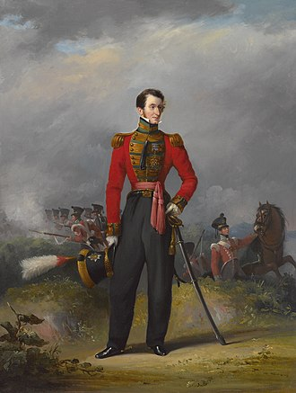 94th Regiment of Foot - Lieutenant General Sir Thomas Bradford depicted in uniform as colonel of the regiment circa 1825