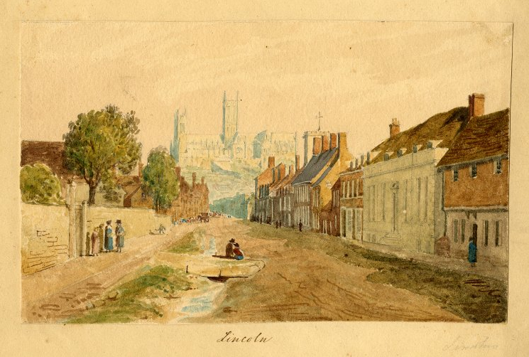 Lincoln High Street c.1820