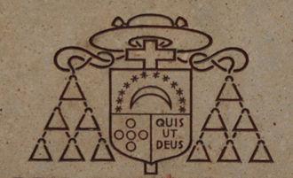 Franz-Josef Rudigier - Image: Linz Neuer Dom Rudigier Büste Wappen