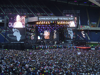 Benefit concert - Live 8, a large, international series of benefit concerts staged in 2005