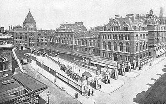 Liverpool Street station - Liverpool Street station, west elevation (1896)