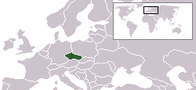 A map showing the location of the Czech Republic