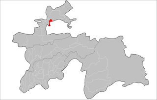 Location of Jabbor Rasulov District in Tajikistan