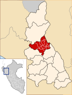 Location of the province Cutervo in Cajamarca.svg