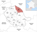 Locator map of Kanton Carmaux-1 Le Ségala 2019.png
