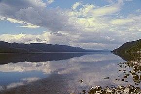 Loch Ness vom östlichen Ende aus gesehen