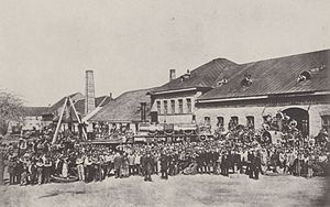 Maffei (company) - Maffei workers celebrate their 500th locomotive in 1864