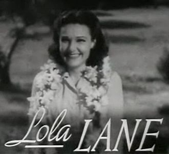 Lane Sisters - Image: Lola Lane in Four Daughters trailer