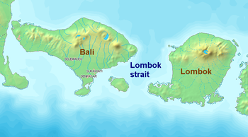 English: Lombok Strait Bahasa Indonesia: Selat...