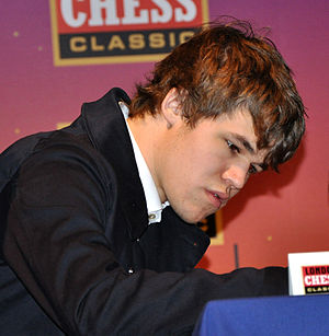 World Chess Championship 2013 - Image: London Chess Classic 2010 Calsen 02