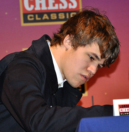 Carlsen at the 2010 London Chess Classic London Chess Classic 2010 Calsen 02.jpg