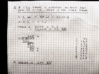 Long division - An example of long division performed without a calculator.