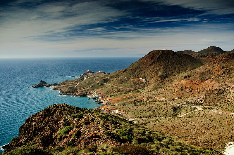 File:Looking at the Mediterranean from Cabo de Gata.jpg