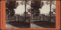 Looking through gateway, from Houghtoe (Houghton) Seminary grounds, Clinton, N.Y, by Walker, L. E., 1826-1916.png