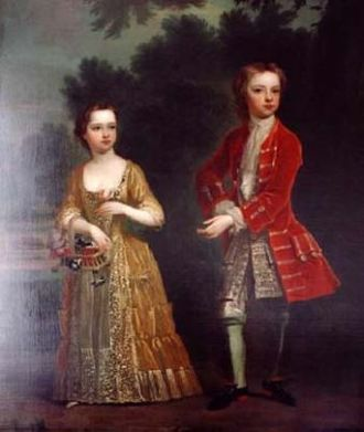 Scroop Egerton, 1st Duke of Bridgewater - Lord and Lady John and Anne Egerton by Charles Jervas, 1716