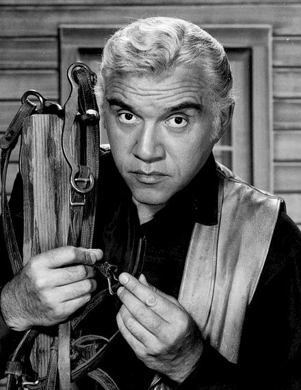 Greene as Ben Cartwright 1959 Lorne Greene Ben Cartwright Bonanza.JPG