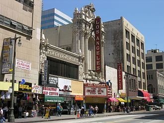 Broadway (Los Angeles) - Broadway street view, with the Los Angeles Theatre at center, 2006