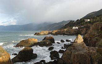Lost Coast - Coastline near Shelter Cove