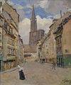 Lothar von Seebach-Rue d'Or et Cathédrale.jpg