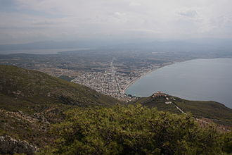 Loutraki - Loutraki: view from the monastery of St Patapius