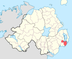 Location of Lecale Lower, County Down, Northern Ireland.