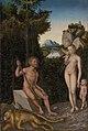Lucas Cranach (I) - Faunenfamilie mit erschlagenem Löwen (Getty Center).jpg